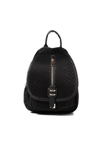 TH Bags TH Bags 0THCW2020602 Desenli Kadın Sırt Çantası Siyah